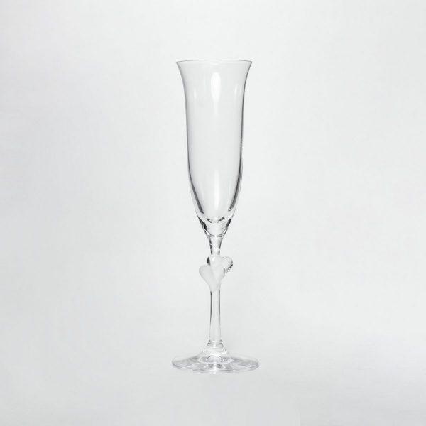 Hochzeits Herz-Sektglas mit Name und Datum (2er Set)