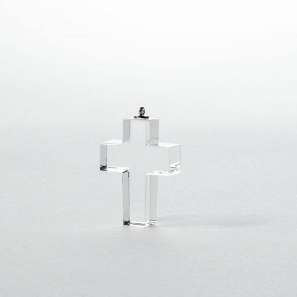 Kreuz aus Kristallglas mit Namen