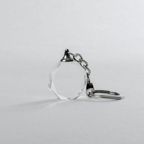 Schlüsselanhänger mit 2D Foto Achtkant