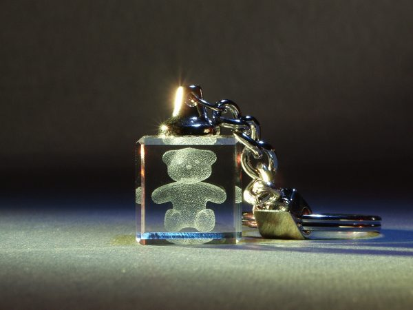 Schlüsselanhänger Würfel mit Bild oder 3D-Motiv